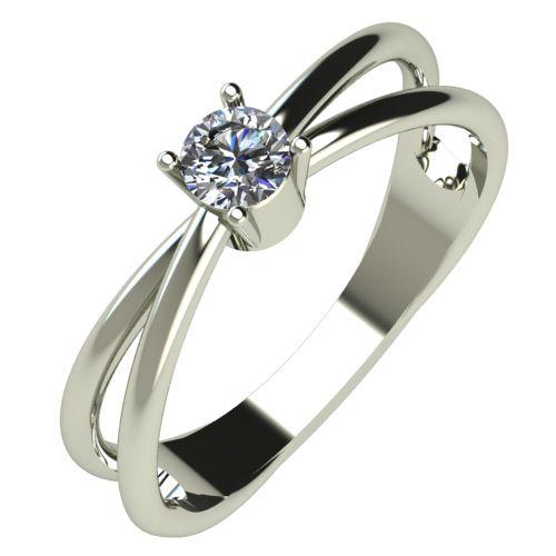 Годежен Пръстен бяло злато с диамант Wings 0,17 ct. 515