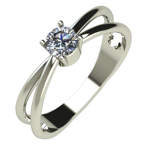 Годежен Пръстен бяло злато с диамант Wings 0,25 ct. 518