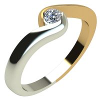 Годежен Пръстен от злато с диамант Accent 0,12 ct. 1288