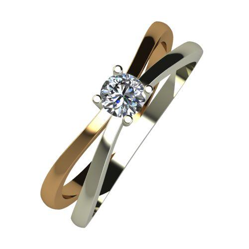 Годежен Пръстен от злато с диамант Flat 0,17 ct. 1956