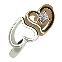 Годежен Пръстен от злато с диамант Hearts 0,04 ct. 1834