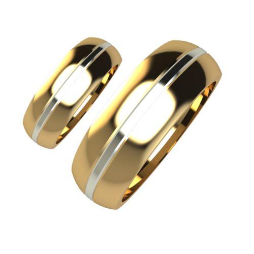 Брачни Халки бяло и жълто злато Chant кат.номер 5111