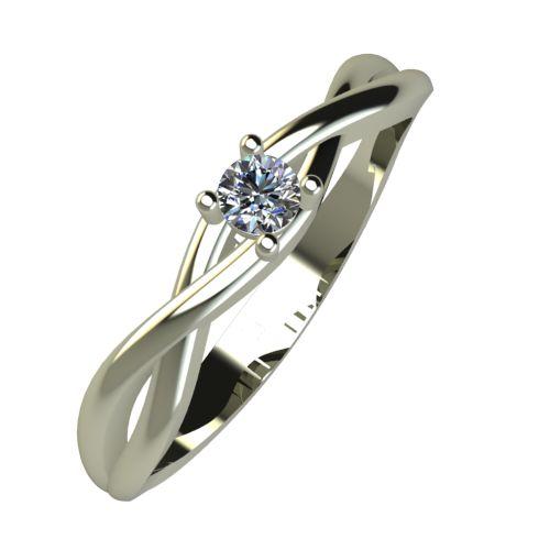 Годежен Пръстен бяло злато с диамант Cast 0,04 ct. 929