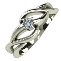 Годежен Пръстен бяло злато с диамант Cast 0,07 ct. 489