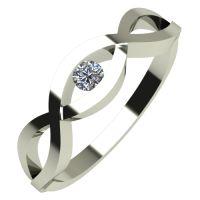 Годежен Пръстен бяло злато с диамант Cast 0,07 ct. 532