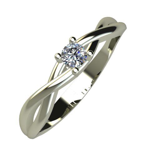 Годежен Пръстен бяло злато с диамант Cast 0,07 ct. 930