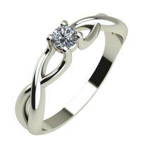 Годежен Пръстен бяло злато с диамант Cast 0,12 ct. 341