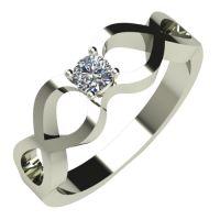 Годежен Пръстен бяло злато с диамант Cast 0,12 ct. 508