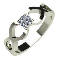Годежен Пръстен бяло злато с диамант Cast 0,17 ct. 506