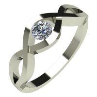 Годежен Пръстен бяло злато с диамант Cast 0,17 ct. 533