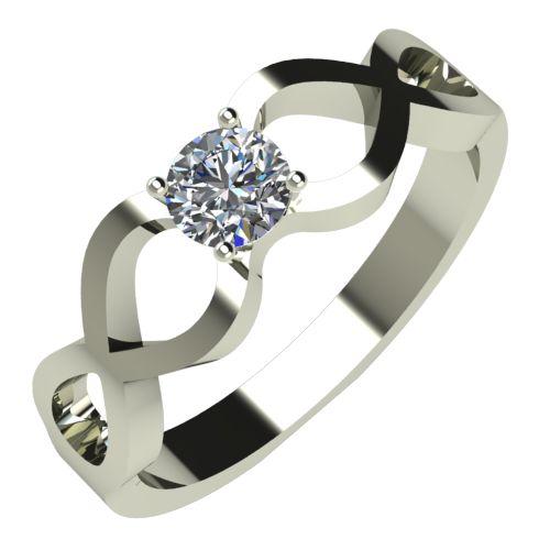 Годежен Пръстен бяло злато с диамант Cast 0,25 ct. 507
