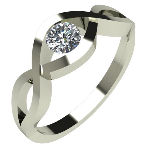 Годежен Пръстен бяло злато с диамант Cast 0,25 ct. 531