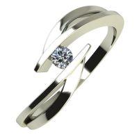 Годежен Пръстен бяло злато с диамант Date 0,04 ct. 683