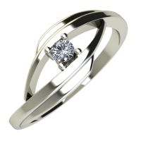 Годежен Пръстен бяло злато с диамант Date 0,04 ct. 684