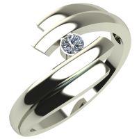 Годежен Пръстен бяло злато с диамант Date 0,07 ct. 258
