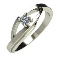 Годежен Пръстен бяло злато с диамант Date 0,07 ct. 388