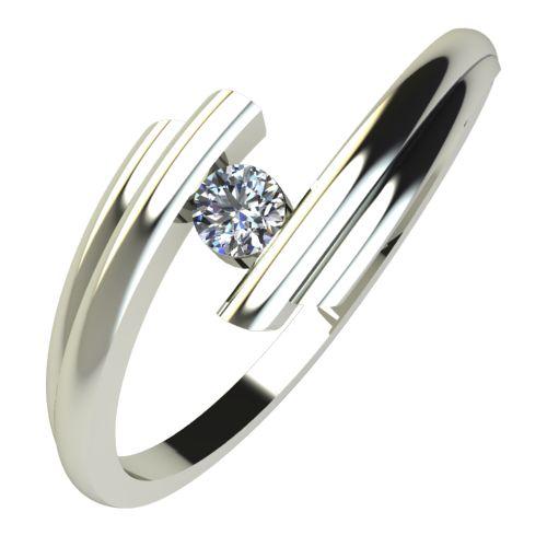 Годежен Пръстен бяло злато с диамант Date 0,07 ct. 595