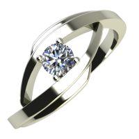 Годежен Пръстен бяло злато с диамант Date 0,12 ct. 602