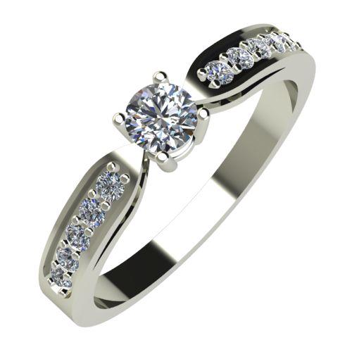Годежен Пръстен бяло злато с диамант Decor 0,28 ct. 591