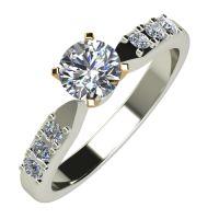 Годежен Пръстен бяло злато с диамант Edge 0,28 ct. 615