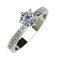 Годежен Пръстен бяло злато с диамант Nova 0,39 ct. 826