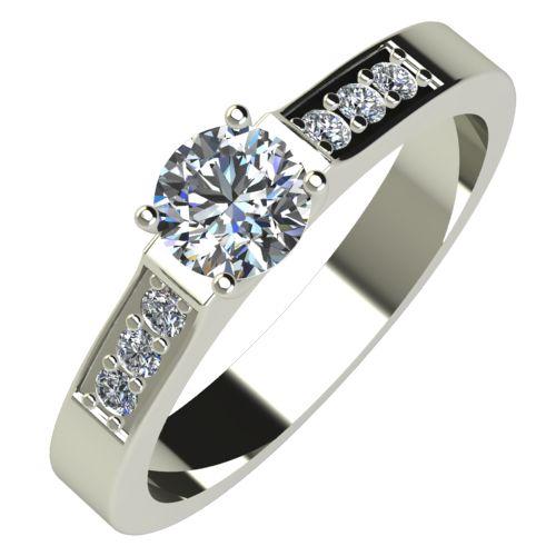 Годежен Пръстен бяло злато с диамант Prest 0,32 ct. 552