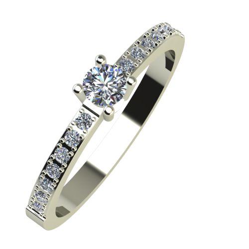 Годежен Пръстен бяло злато с диамант Varie 0,22 ct. 917