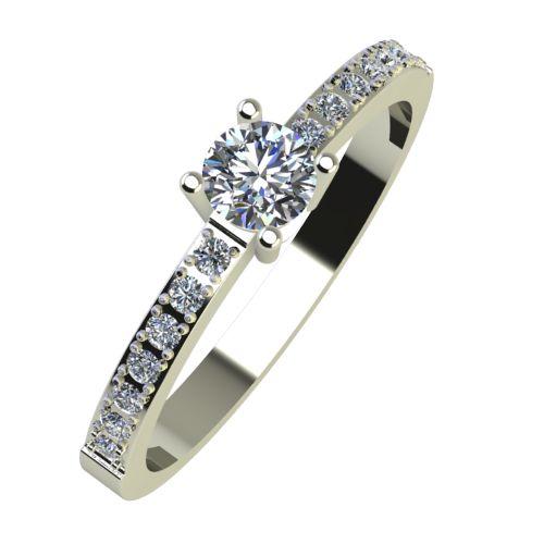 Годежен Пръстен бяло злато с диамант Varie 0,27 ct. 918