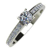 Годежен Пръстен бяло злато с диамант Varie 0,42 ct. 837