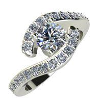 Годежен Пръстен бяло злато с диамант Vision 0,51 ct. 832