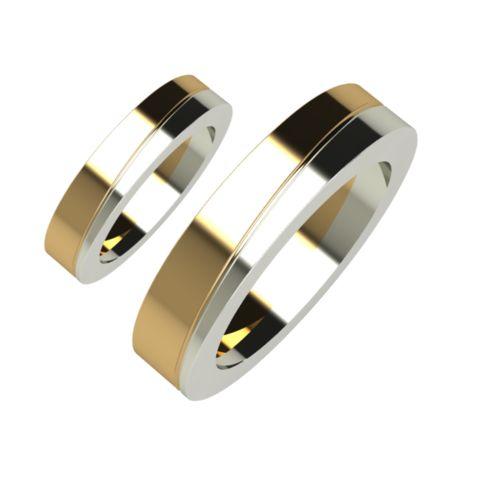 Брачни Халки бяло и жълто злато Helix кат.номер 5105