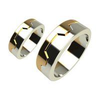 Брачни Халки бяло и жълто злато Mods кат.номер 5091