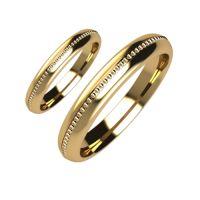 Брачни Халки жълто злато модел Ways кат.номер 5170