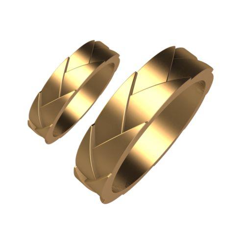 Брачни Халки жълто злато модел Kinds кат.номер 5176