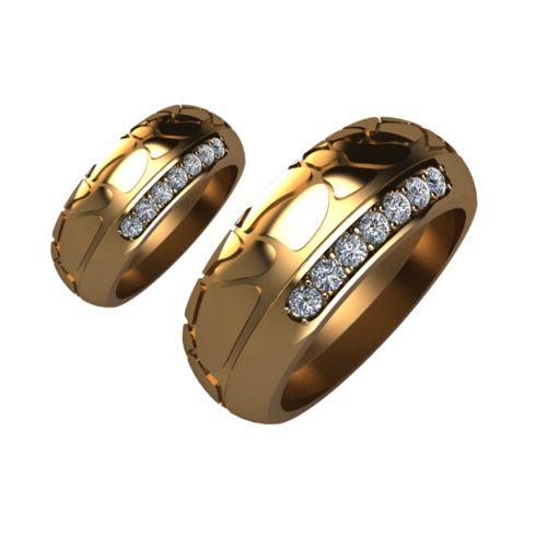 Брачни Халки жълто злато модел Shels кат.номер 5200
