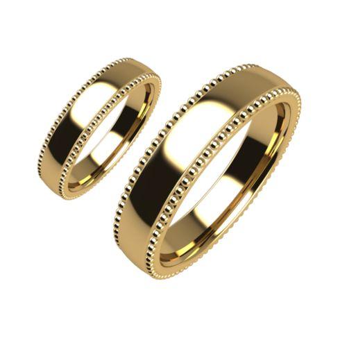 Брачни Халки жълто злато модел Ways кат.номер 5187