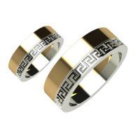 Брачни Халки бяло и жълто злато Raos кат.номер 5095