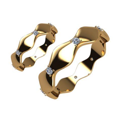 Брачни Халки жълто злато модел Elis кат.номер 5238