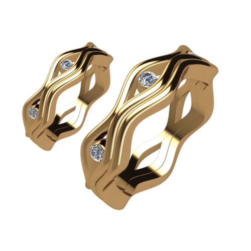 Брачни Халки жълто злато модел Elis кат.номер 5244