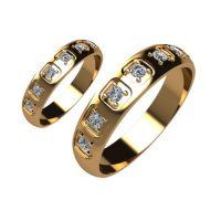 Брачни Халки жълто злато модел Spark кат.номер 5271