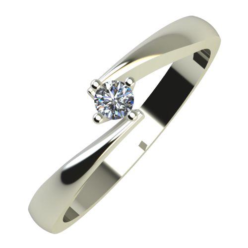 Годежен Пръстен бяло злато с диамант Chase 0,04 ct. 755