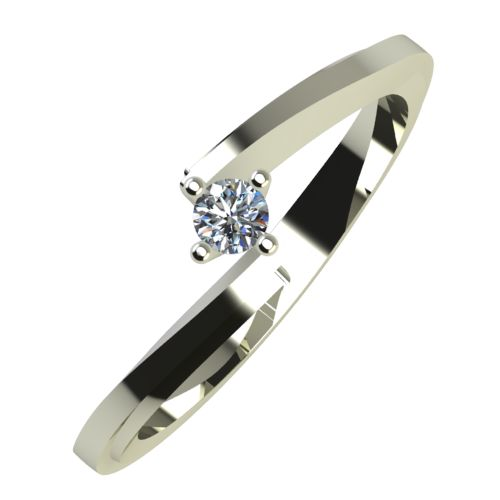 Годежен Пръстен бяло злато с диамант Chase 0,04 ct. 757