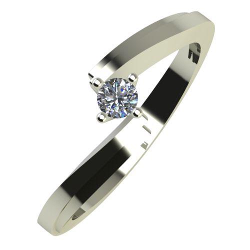 Годежен Пръстен бяло злато с диамант Chase 0,07 ct. 756