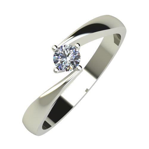 Годежен Пръстен бяло злато с диамант Chase 0,12 ct. 760