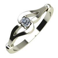 Годежен Пръстен бяло злато с диамант Forth 0,04 ct. 685