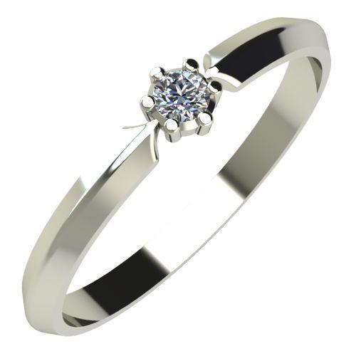 Годежен Пръстен бяло злато с диамант Impulse 0,04 ct. 233