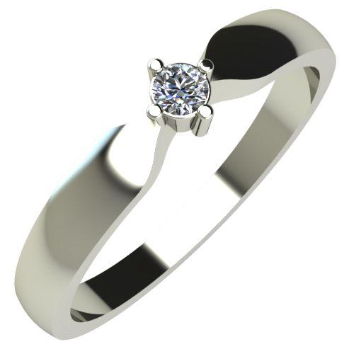 Годежен Пръстен бяло злато с диамант Impulse 0,04 ct. 236