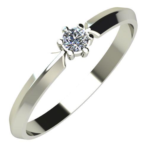 Годежен Пръстен бяло злато с диамант Impulse 0,07 ct. 234