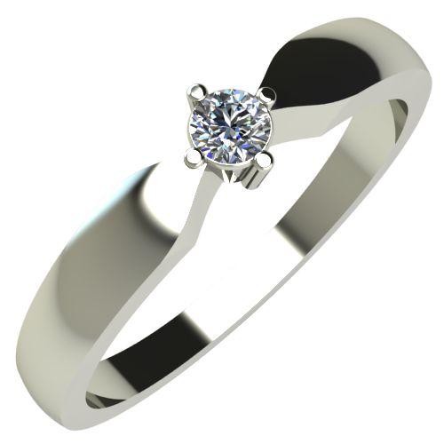 Годежен Пръстен бяло злато с диамант Impulse 0,07 ct. 237