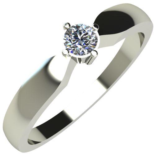 Годежен Пръстен бяло злато с диамант Impulse 0,12 ct.235